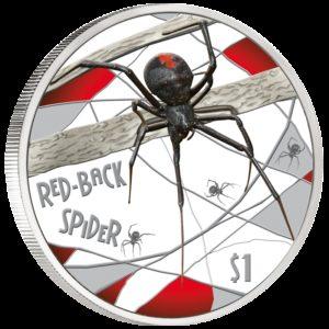Tuvalu 2006 - 1$ - Śmiertelne i Niebezpieczne - Red-back Spider - 1 oz. Srebrna Moneta