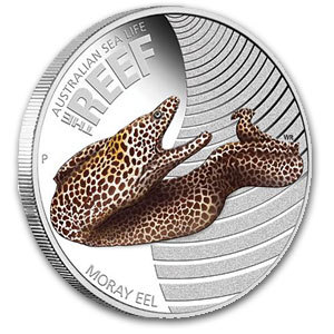 Australia 2010 - Sea Life I - The Reef Murena - 1/2 oz. Srebrna Moneta