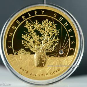 Australia 2016 - 500$ Kimberley Sunset Moneta z Diamentem - 2 uncje Złota Wysoki Relief