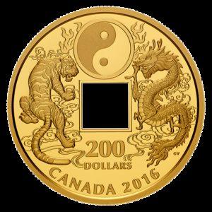Kanada 2016 - 200$ Tygrys I Smok Yin and Yang - 1 Uncja Złota Moneta