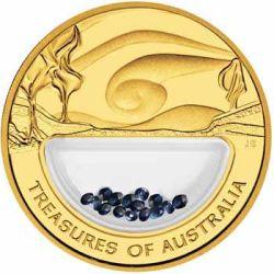 Australia 2007 - 100$ Skarby Australii Szafiry - 1 Uncja Złota Moneta