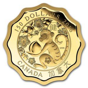 """Kanada 2016 - 150$ Błogoswiawieństwo Zdrowia """"8"""" - 1/3 Uncji Złota Moneta"""