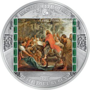 Cook Islands 2017 - 20$ Masterpieces of Art Wjazd Jezusa do Jerozolimy Peter Paul Rubens - 3 oz. Srebrna Moneta