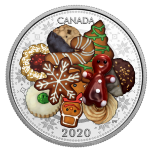 Canada 2020 - 20$ Murano Holiday Cookies - 1 oz. Pure Silver Coin