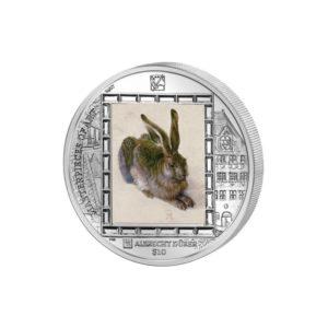 Brytyjskie Wyspy Dziewicze 2011 - 10$ Masterpieces of Art - Młody Zając - Albrecht Dürer - 1 uncja Srebrna Moneta
