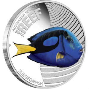 Australia 2012 - Sea Life II - The Reef Surgeonfish - 1/2 oz. Srebrna Moneta