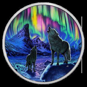 Kanada 2016 - 30$ Zorza Polarna Moneta świecąca w Ciemności - 2 oz. Srebrna Moneta