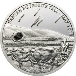 Palau 2006 - 5$ Meteoryt Nantan - Srebrna Moneta