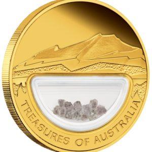 Australia 2009 - 100$ Skarby Australii Diamenty - 1 Uncja Złota Moneta