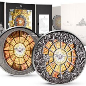 Cook Islands 2016 - 40$ Wielkie Okna Niebios Bazylika św. Piotra w Watykanie - 10 oz. Srebrna Moneta