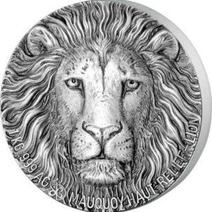 Wybrzeże Kości Słoniowej 2017 - 10000 Franków Mauquoy Wielka Piątka Lew - 1 Kilo Kg Srebrna Moneta Wysoki Relief