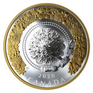 Канада 2020 - 50$ Рождественский поезд - 1 унция серебряная монета