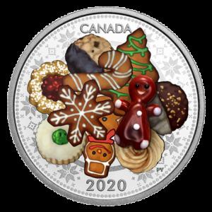 Канада 2020 - 20 $ Мурано Праздничное печенье - 1 унция. Чистая серебряная монета