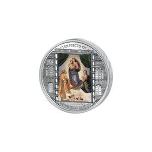 Cook Islands 2009 - 20$ Masterpieces of Art - Madonna Syktyńska - Raphael Santi - 3 uncje Srebrna Moneta