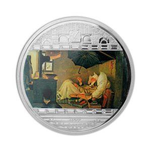 Cook Islands 2009 - 20$ Masterpieces of Art - Biedny Poeta - Carl Spitzweg - 3 uncje Srebrna Moneta