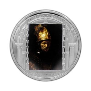 Cook Islands 2010 - 20$ Masterpieces of Art - Mężczyzna w Złotym Hełmie - Rembrandt - 3 uncje Srebrna Moneta