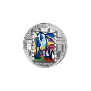 Cook Islands 2011 - 20$ Masterpieces of Art - Niebieski Koń - Franz Marc - 3 uncje Srebrna Moneta