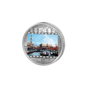 Cook Islands 2011 - 20$ Masterpieces of Art - Canaletto - Bernardo Bellotto - 3 uncje Srebrna Moneta