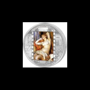 Cook Islands 2012 - 20$ Masterpieces of Art - The Sleeping Bather - Pierre-Auguste Renoir - 3 uncje Srebrna Moneta