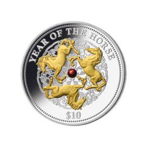 Fidżi 2013 - 10$ Rok Węża - Zielona Perła - 1 oz. Srebrna Moneta