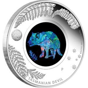Australia 2014 - 1$ Opal Series Diabeł Tasmański - 1 oz. Srebrna Moneta