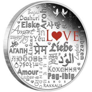 Tuvalu 2016 - 2$ Język Miłości - 2 Uncje Srebrna Moneta