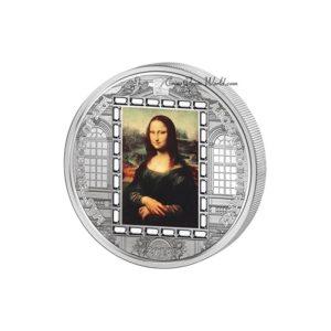 Cook Islands 2016 - 20$ Masterpieces of Art - Mona Lisa Leonardo da Vinci - 3 uncje Srebrna Moneta