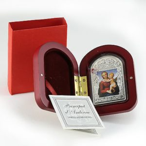 Andora 2011 - 15 Dinar Madonna z Dzieciątkiem Rafael Santi - 50 Gramów Srebrna Moneta