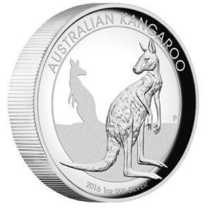Australia 2016 - 1$ Australijski Kangur - 1 Uncja Wysoki Relief Srebrna Moneta