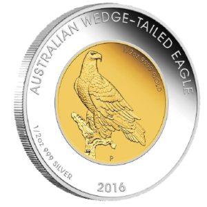 Australia 2016 - 50$ Orzeł Australijski BiMetal 1 oz - Złota / Srebrna Moneta