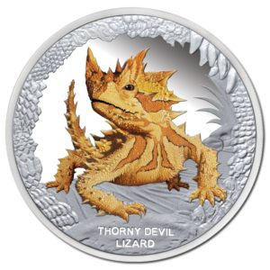 Tuvalu 2014 - 1$ Niezwykłe Gady Australii Moloch straszliwy - 1 Uncja Srebrna Moneta