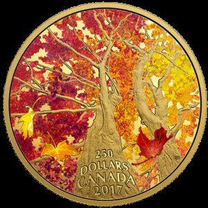 Kanada 2017 - 250$ Maple Canopy: Kalejdoskop Kolorów II - 2 Uncje Złota Moneta