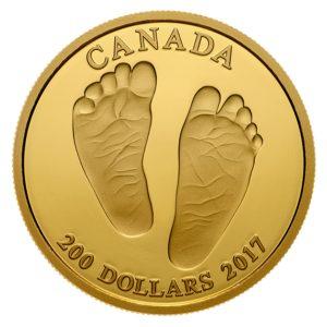 Kanada 2017 - 200$ Witamy na Świecie Prezent dla Dziecka Stópki - 1/2 Uncji Złota Moneta