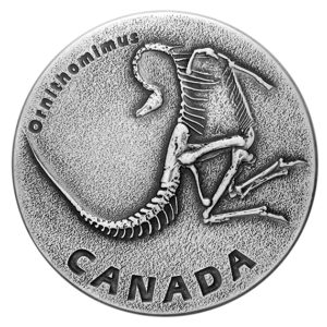 "Kanada 2017 - 20$ Starożytna Kanada Dinozaury Ornithomimus ""1"" - 1 oz. Srebrna Moneta"