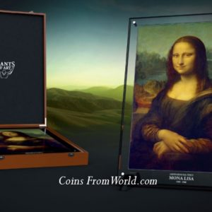 Niue Island 2017 - 100$ Seria Giants of Art Mona Lisa Leonardo Da Vinci - Ekskluzywna Srebrna Moneta