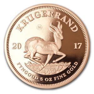 Republika Południowej Afryki 2017 - Krugerrand 50-Lecie 1967-2017 - 5 Uncji Złota Moneta