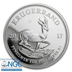 Republika Południowej Afryki 2017 - 1 Rand Krugerrand 50-lecie 1967-2017 - 1 Uncja Srebrna Moneta NGC PF69