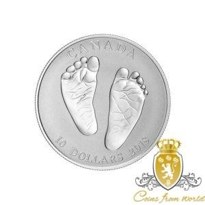 Kanada 2018 - 10$ Witaj na Świecie Prezent dla Dziecka Stópki - 1/2 Uncji Srebrna Moneta