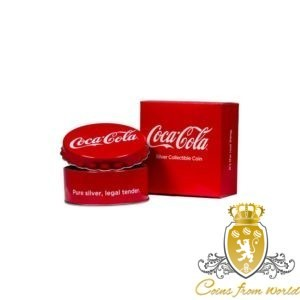 Fiji 2018 - 1$ Coca Cola Kapsel - Srebrna Moneta
