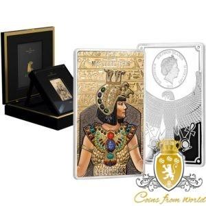 Wyspy Salomona 2019 66$ Masterpieces Kleopatra Srebrna Złota Moneta
