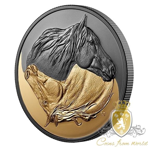 Kanada 2019 - 200$ Purely Brilliant Collection: Forevermark Black Label Square - 1 Unze Goldmünze mit Diamant