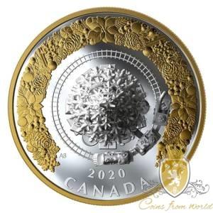 Kanada 2020 - 50$ Świąteczny Pociąg - Srebrna Moneta 5 Uncji