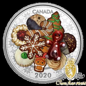 Kanada 2020 - 20$ Świąteczne Ciasteczko Murano - Srebrna Moneta 1 Uncja