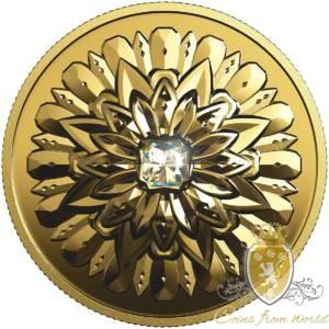 Kanada 2019 - 200$ Purely Brilliant Collection: Forevermark Black Label Square - Moneta z 1 uncji Najczystszego Złota z Diamentem
